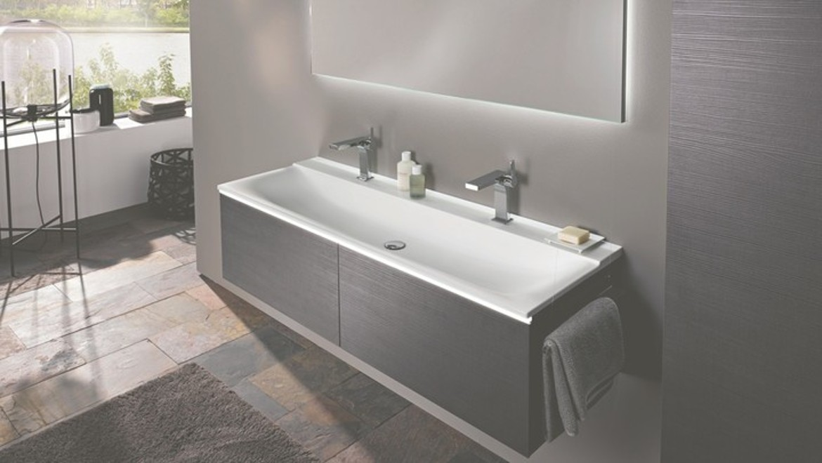Geberit Xeno 1200 Washbasin with two tap holes for master ensuite