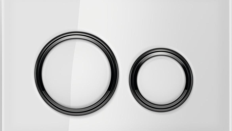 Sigma21 White Glass and Black Chrome