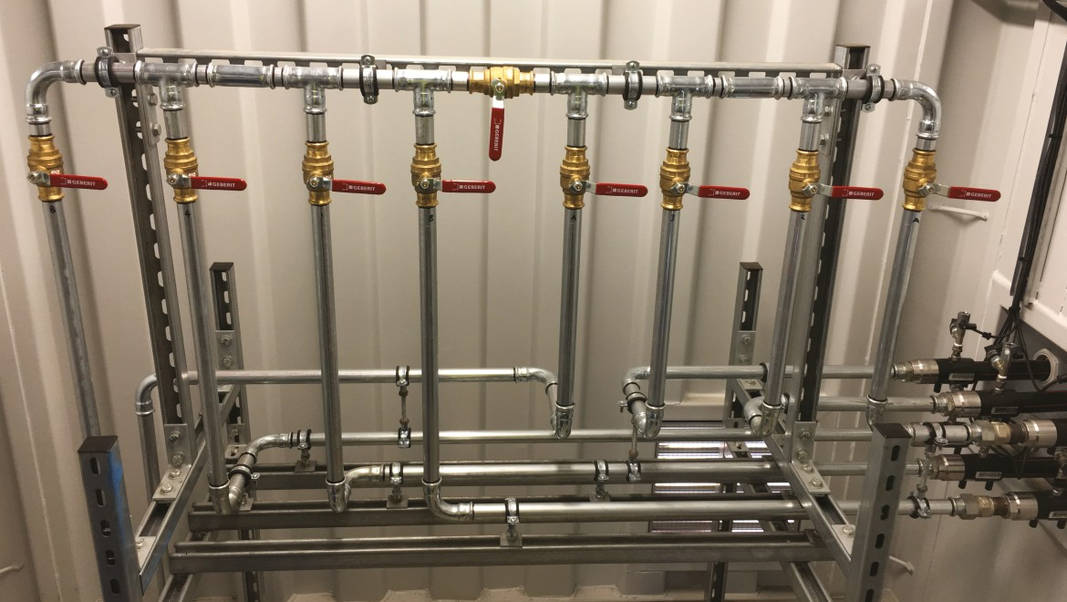 Geberit pipe solution using Geberit Mapress