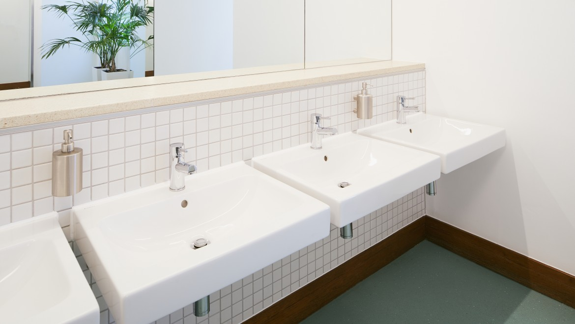 Geberit iCon washbasins at the RIBA Clore Learning Centre