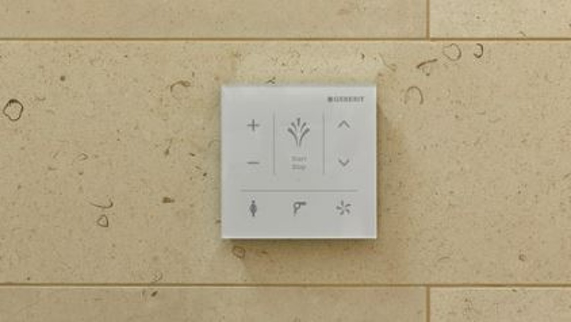 Geberit AquaClean Control Panel at The Fontenay Hotel